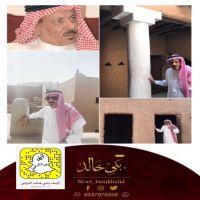 الشيخ عبدالله البليهد يتفقد أعمال ترميم قصر والده.