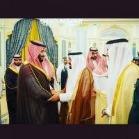 #استقبل #صاحب السمو الأمير #محمد بن سلمان #الامير نهار بن #محمد ابن عريعر.